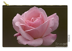 Carry-all Pouch featuring the photograph Pink Rose by Meg Rousher