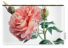 Pink Rose Odette  Carry-all Pouch