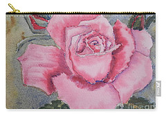Pink Rose Carry-all Pouch by Pamela  Meredith
