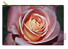 Carry-all Pouch featuring the photograph Pink Rose by Savannah Gibbs