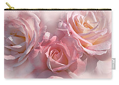 Pink Roses In The Mist Carry-all Pouch