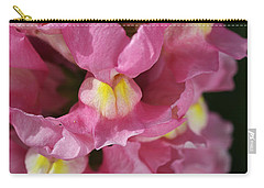 Pink Snapdragon Flowers Carry-all Pouch by Joy Watson