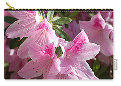 Pink Star Azaleas In Full Bloom Carry-all Pouch by Connie Fox