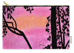 Carry-all Pouch featuring the drawing Pink Sky Sunset by D Hackett