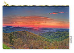 Pink Sunrise At Skyline Drive Carry-all Pouch