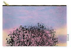 Carry-all Pouch featuring the drawing Pink Sunset by D Hackett