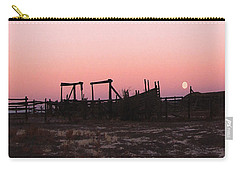 Pink Sunset Over Corral Carry-all Pouch