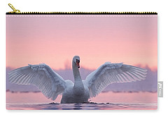 Pink Swan Carry-all Pouch by Roeselien Raimond