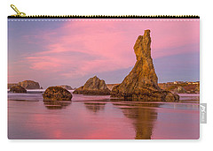 Pink Swirl Carry-all Pouch by Patricia Davidson