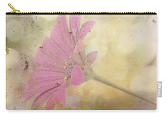 Carry-all Pouch featuring the photograph Pink Textured Gazania by Sandra Foster
