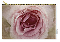Pink Textured Rose Carry-all Pouch