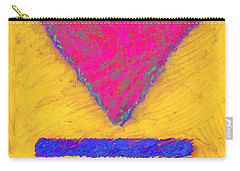 Pink Triangle On Yellow Carry-all Pouch