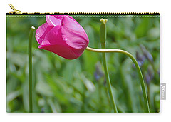Carry-all Pouch featuring the photograph Pink Tulip by Aimee L Maher Photography and Art Visit ALMGallerydotcom