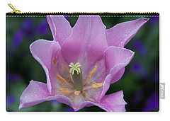 Pink Tulip Flower With A Spot Of Green Fine Art Floral Photography Print Carry-all Pouch