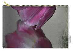 Pink Tulip Reflected In Silver Water Carry-all Pouch
