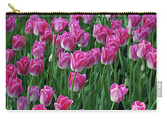 Carry-all Pouch featuring the photograph Pink Tulips 2 by Allen Beatty