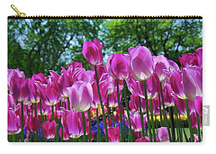 Carry-all Pouch featuring the photograph Pink Tulips by Allen Beatty