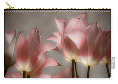 Pink Tulips Glow Carry-all Pouch