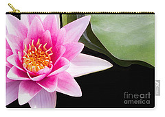Pink Water Lily And Pad Carry-all Pouch