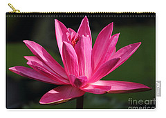 Pink Water Lily Carry-all Pouch by Meg Rousher