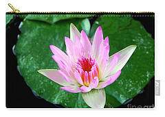 Carry-all Pouch featuring the photograph Pink Waterlily Flower by David Lawson