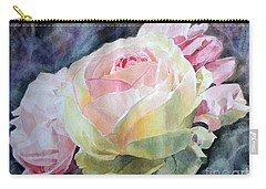 Pink Yellow Rose Angela Carry-all Pouch