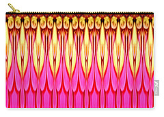 Pink Zinnia Polar Coordinate Carry-all Pouch by Rose Santuci-Sofranko