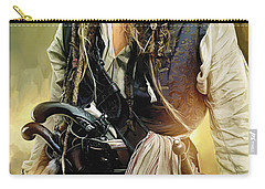 Pirates Of The Caribbean Johnny Depp Artwork 1 Carry-all Pouch by Sheraz A