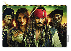 Pirates Of The Caribbean Stranger Tides Carry-all Pouch by Movie Poster Prints