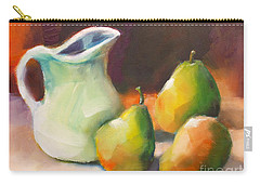Carry-all Pouch featuring the painting Pitcher And Pears by Michelle Abrams