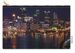 Carry-all Pouch featuring the photograph Pittsburgh After The Setting Sun by Michelle Joseph-Long
