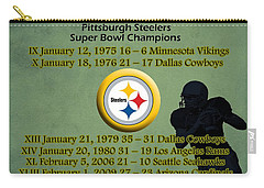 Pittsburgh Steelers Super Bowl Wins Carry-all Pouch
