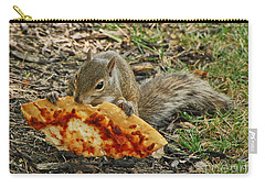Pizza For  Lunch Carry-all Pouch by Mary Carol Story