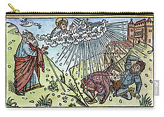 Carry-all Pouch featuring the painting Plague Of Hail by Granger
