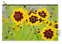 Plains Coreopsis Carry-all Pouch by Walter Herrit