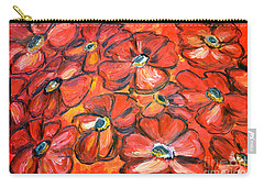 Carry-all Pouch featuring the painting Plaisir Rouge by Ramona Matei