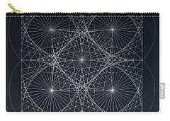Carry-all Pouch featuring the drawing Plancks Blackhole by Jason Padgett