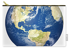Planet Earth On White - America Carry-all Pouch
