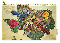 Plant Map Of Texas Carry-all Pouch by Gary Grayson