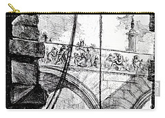 Plate 4 From The Carceri Series Carry-all Pouch by Giovanni Battista Piranesi