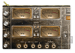 Playback Recording Vu Meters Grunge Carry-all Pouch