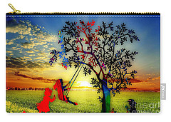 Playful At Sunset Carry-all Pouch
