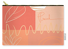 Playful Peach Carry-all Pouch by Lourry Legarde