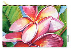 Playful Plumeria Carry-all Pouch