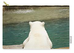 Playful Polar Bear Carry-all Pouch by Adam Romanowicz