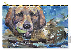 Playful Retriever Carry-all Pouch