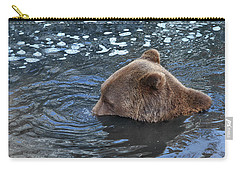 Playful Submerged Bear Carry-all Pouch