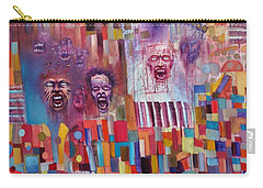 Carry-all Pouch featuring the painting Playground Of The Undead by Jason Williamson