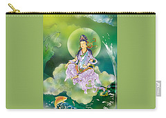 Carry-all Pouch featuring the photograph Playing Avalokitesvara   by Lanjee Chee