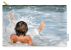 Playing In The Waves Carry-all Pouch